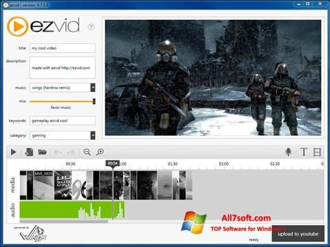 Ekrānuzņēmums Ezvid Windows 7