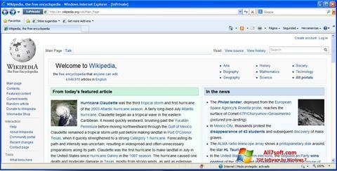 Ekrānuzņēmums Internet Explorer Windows 7