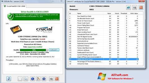 Ekrānuzņēmums SSDLife Windows 7