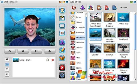 Ekrānuzņēmums WebcamMax Windows 7