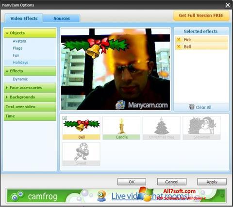 Ekrānuzņēmums ManyCam Windows 7