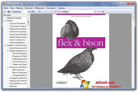Ekrānuzņēmums Sumatra PDF Windows 7