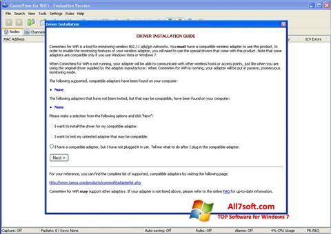 Ekrānuzņēmums CommView for WiFi Windows 7