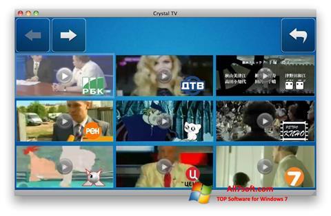 Ekrānuzņēmums Crystal TV Windows 7