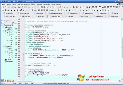 Ekrānuzņēmums PHP Expert Editor Windows 7