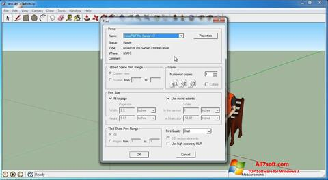 Ekrānuzņēmums SketchUp Make Windows 7