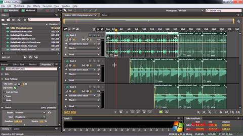 Ekrānuzņēmums Adobe Audition CC Windows 7