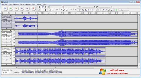 Ekrānuzņēmums Audacity Windows 7