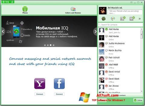 Ekrānuzņēmums ICQ Windows 7