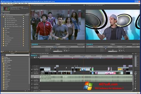 Ekrānuzņēmums Adobe Premiere Pro Windows 7