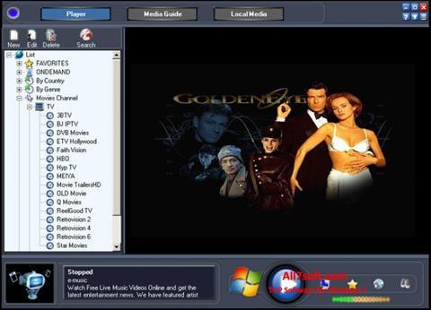 Ekrānuzņēmums Online TV Live Windows 7