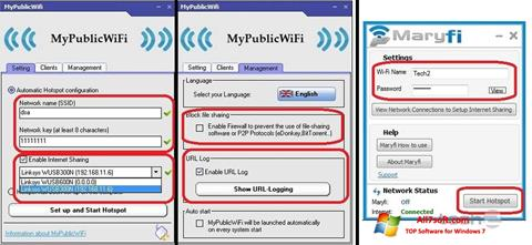 Ekrānuzņēmums MaryFi Windows 7