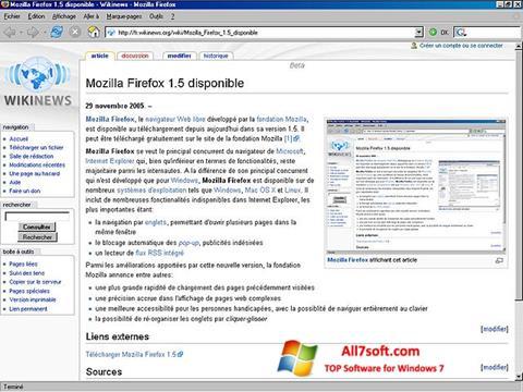 Ekrānuzņēmums Mozilla Firefox Windows 7