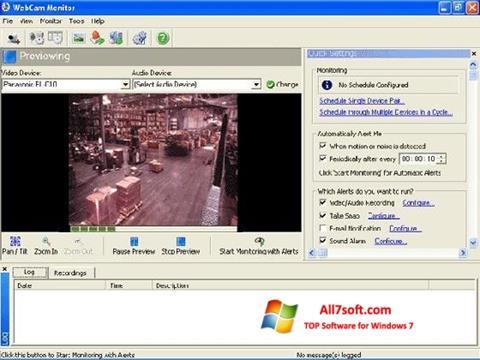 Ekrānuzņēmums WebCam Monitor Windows 7