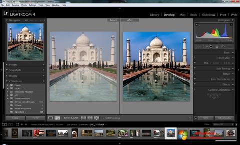 Ekrānuzņēmums Adobe Photoshop Lightroom Windows 7