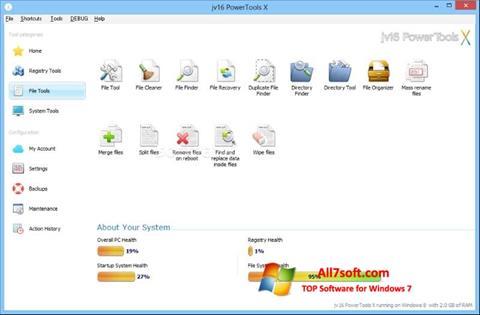 Ekrānuzņēmums jv16 PowerTools Windows 7