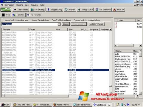 Ekrānuzņēmums Soulseek Windows 7