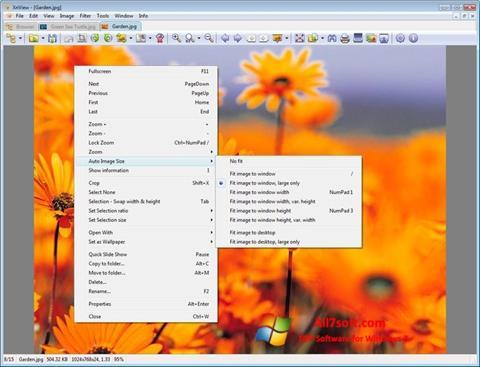Ekrānuzņēmums XnView Windows 7