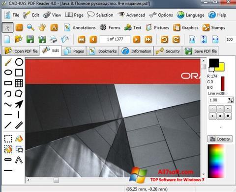 Ekrānuzņēmums PDF Reader Windows 7