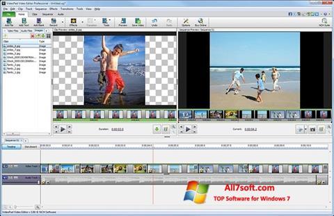 Ekrānuzņēmums VideoPad Video Editor Windows 7