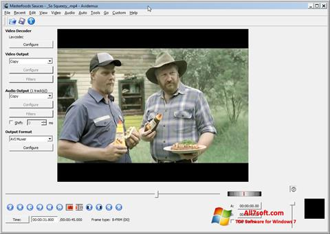 Ekrānuzņēmums Avidemux Windows 7