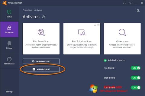 Ekrānuzņēmums Avast Windows 7