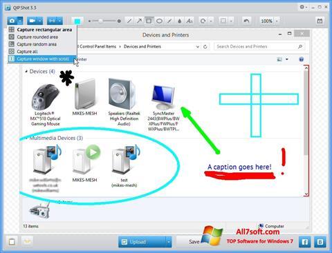 Ekrānuzņēmums QIP Windows 7