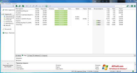 Ekrānuzņēmums uTorrent Windows 7