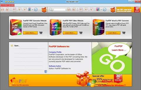 Ekrānuzņēmums Doc Reader Windows 7