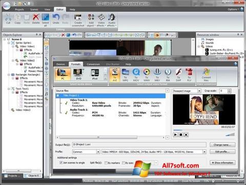 Ekrānuzņēmums Free Video Editor Windows 7