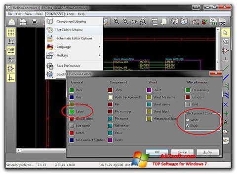 Ekrānuzņēmums KiCad Windows 7