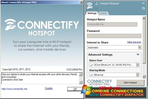 Ekrānuzņēmums Connectify Windows 7