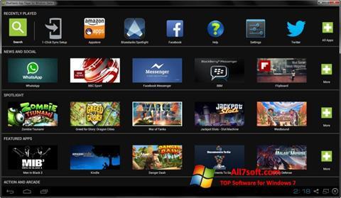 Ekrānuzņēmums BlueStacks Windows 7