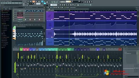 Ekrānuzņēmums FL Studio Windows 7