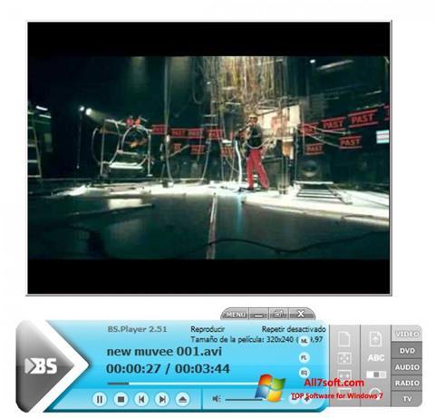 Ekrānuzņēmums BSPlayer Windows 7