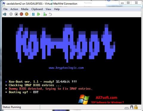 Ekrānuzņēmums Kon-Boot Windows 7