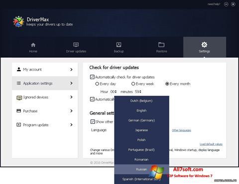 Ekrānuzņēmums DriverMax Windows 7