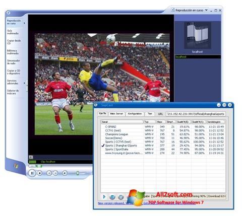 Ekrānuzņēmums SopCast Windows 7