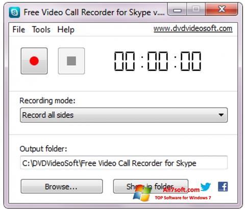 Ekrānuzņēmums Free Video Call Recorder for Skype Windows 7