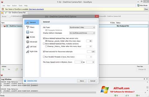 Ekrānuzņēmums GoodSync Windows 7