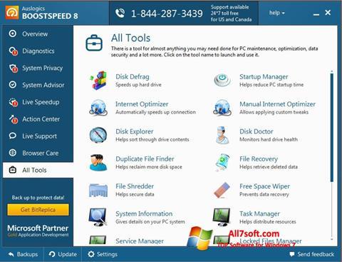 Ekrānuzņēmums Auslogics BoostSpeed Windows 7