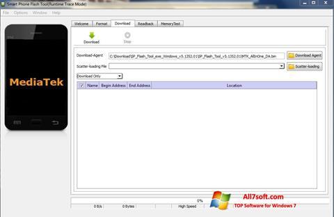 Ekrānuzņēmums FlashTool Windows 7