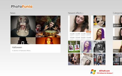 Ekrānuzņēmums PhotoFunia Windows 7