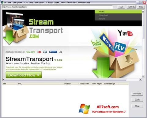 Ekrānuzņēmums StreamTransport Windows 7