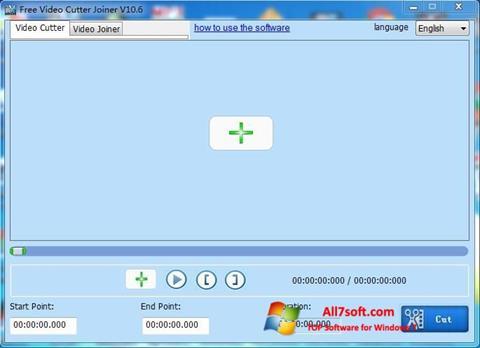 Ekrānuzņēmums Free Video Cutter Windows 7