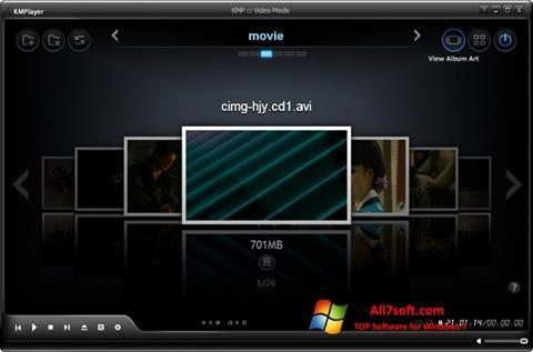 Ekrānuzņēmums KMPlayer Windows 7