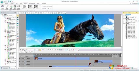 Ekrānuzņēmums VSDC Free Video Editor Windows 7