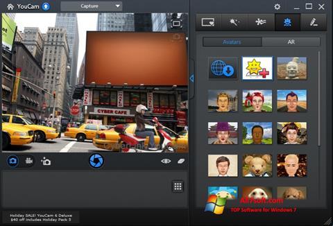 Ekrānuzņēmums CyberLink YouCam Windows 7